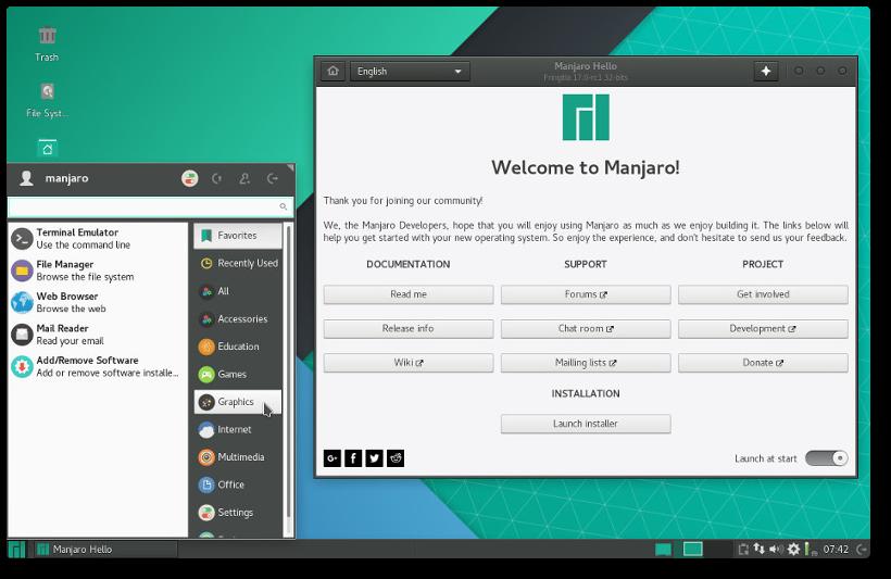 Новости: ВЫХОД РЕДАКЦИЙ KDE И XFCE MANJARO 17.0-RC1