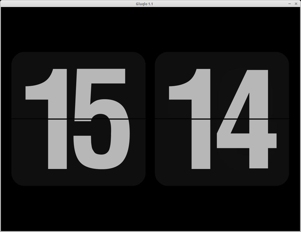 Уголок новичка: Экранная заставка часы Gluqlo.
