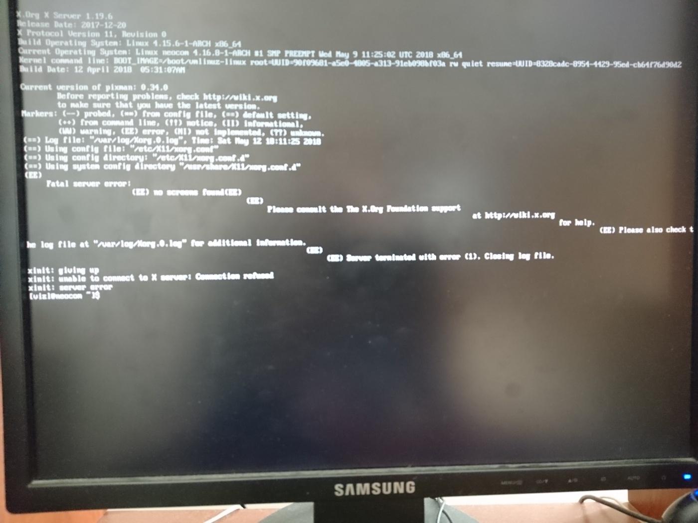 Manjaro Other: Не могу войти в графическую систему LightDM