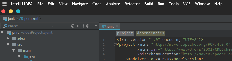 Manjaro XFCE Edition: IntelliJ IDEA Global Menu Manjaro