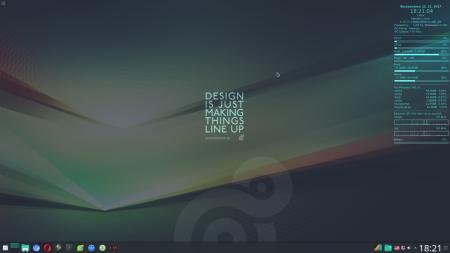 Оформление  и Скриншоты: Conky minimall