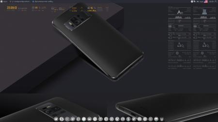 Оформление  и Скриншоты: conky Manjaro & Arch gray