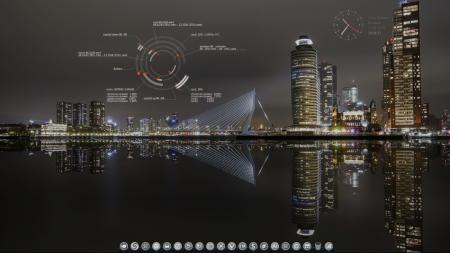 Оформление  и Скриншоты: Conky lua circle big v-2