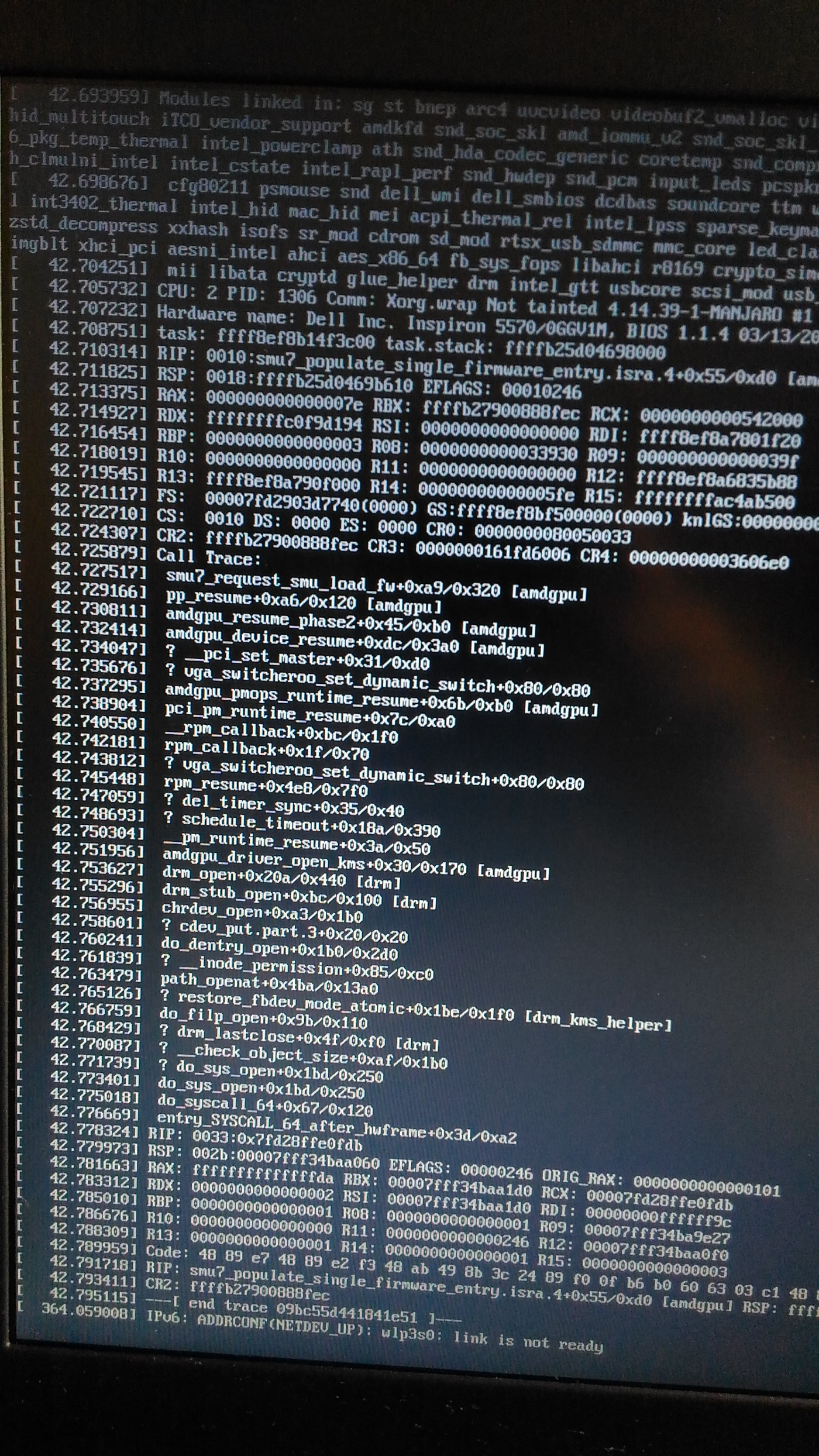 Manjaro KDE Edition: Ошибка при установке manjaro всех версий
