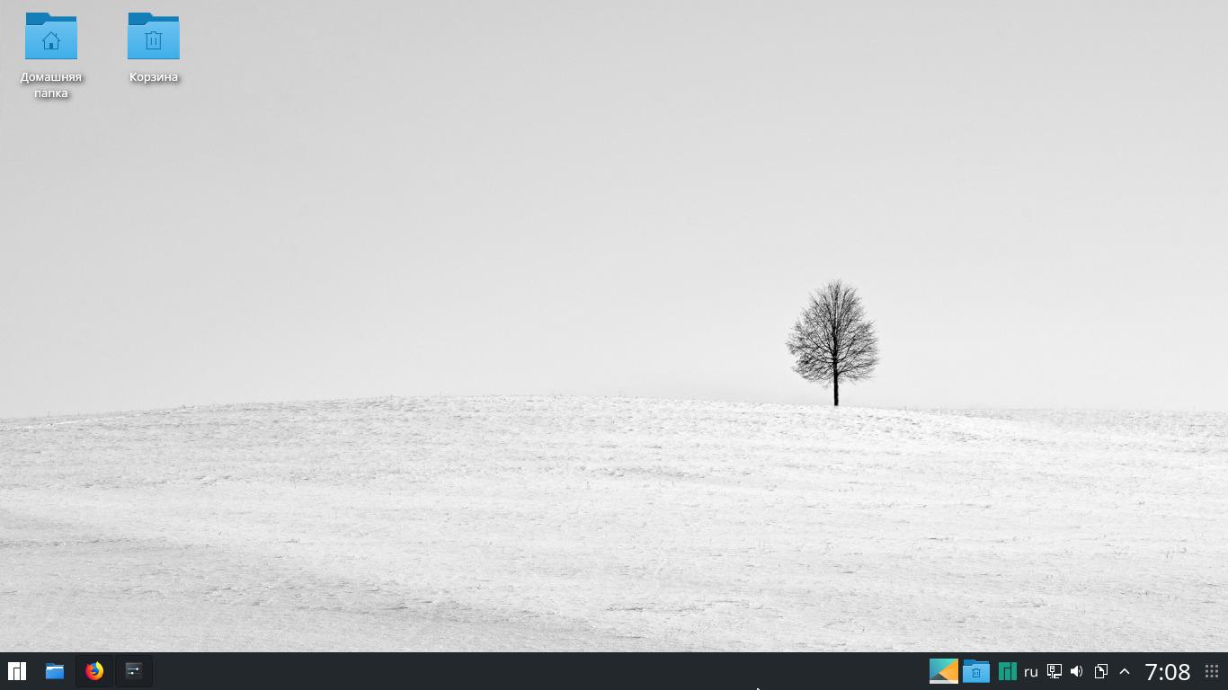 Manjaro KDE Edition: Как убрать значки на рабочем столе (plasma 5.12.4)?