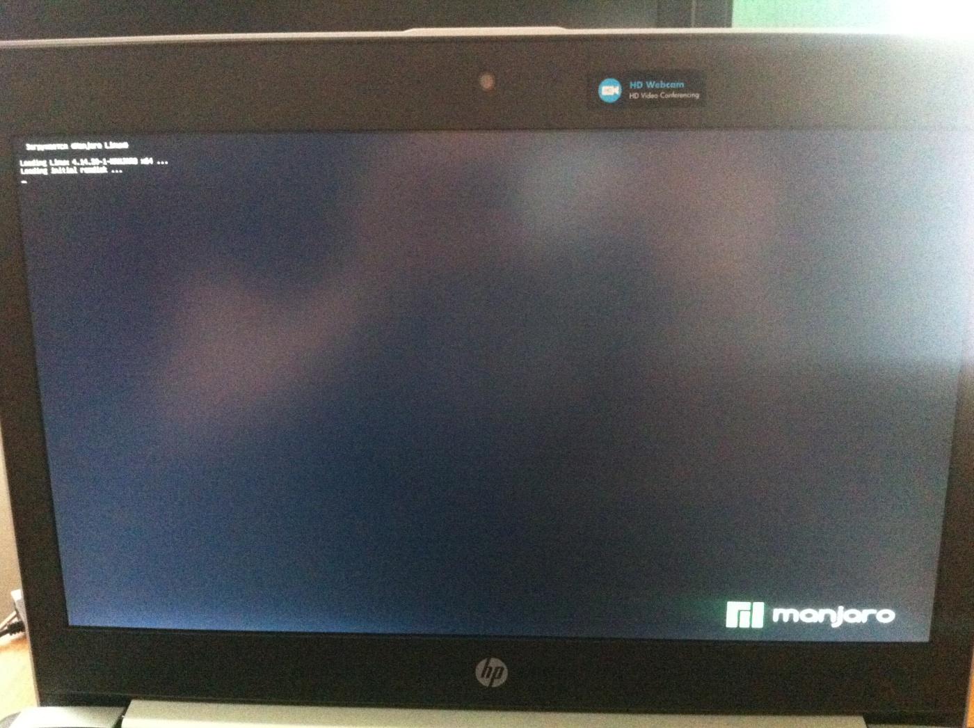Manjaro KDE Edition: Черный экран после установки