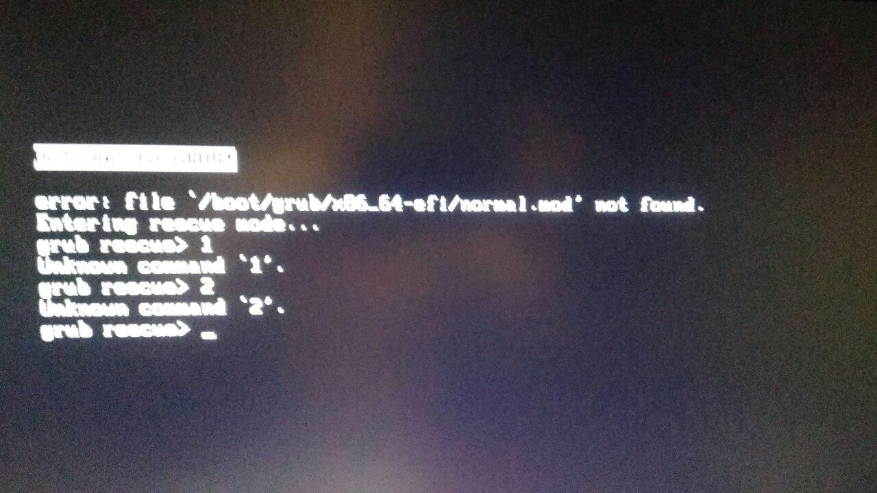 Уголок новичка: error: file '/boot/grub/i386-pc/boot.mod' not found
