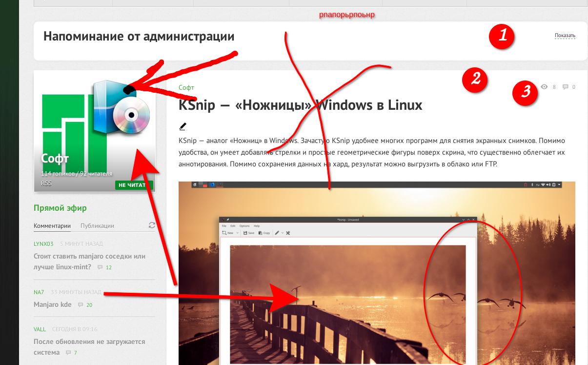 Софт: KSnip — «Ножницы» Windows в Linux