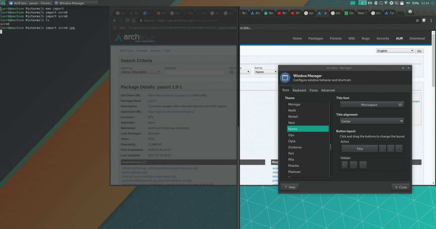 Manjaro XFCE Edition: Некорректная отображение стилей оконного менеджера в xfce4