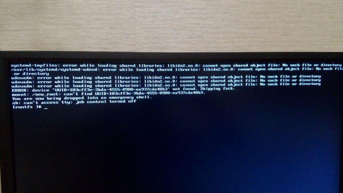 Manjaro XFCE Edition: Ошибка после обновления системы