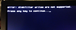 Блог им. microcoder: boot diskfilter writes are not supported