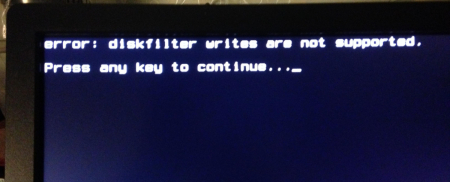 Учебники (How-To & F.A.Q): Исправляем ошибку GRUB - boot diskfilter writes are not supported на LVM или RAID