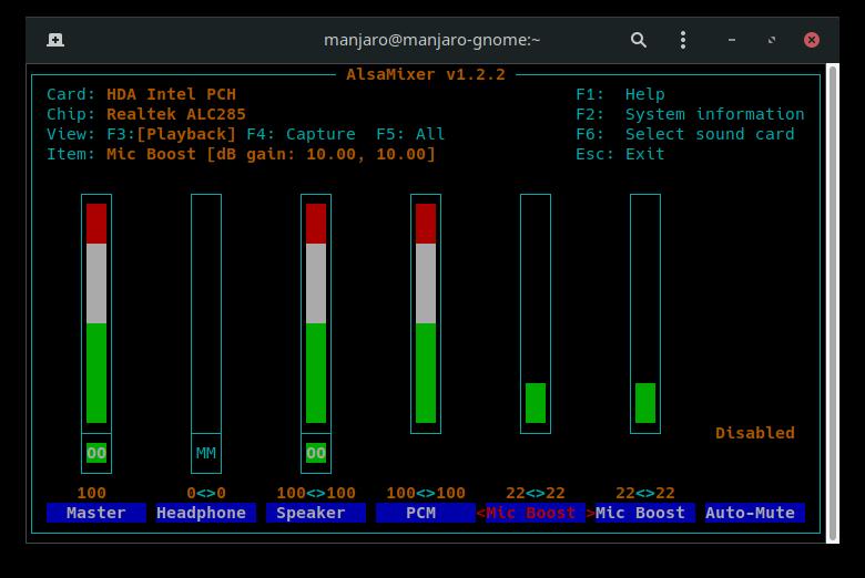 Manjaro GNOME: Не определяется встроенный микрофон.