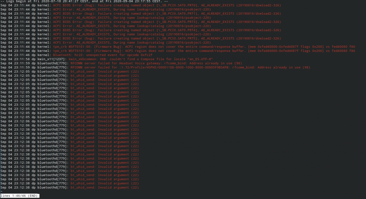 Manjaro KDE Edition: ошибки