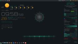 Оформление  и Скриншоты: Conky для Manjaro KDE Plasma