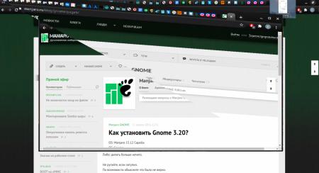 Manjaro GNOME: Странные глитчи отрисоки окон и захвата фокуса клавиатуры и мыши